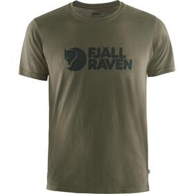 Fjällräven Logo T-Shirt Heren, dark olive